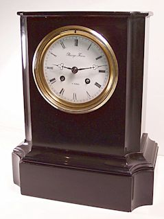 Restoring a black marble clock case with Clocks Magazine, figure 12